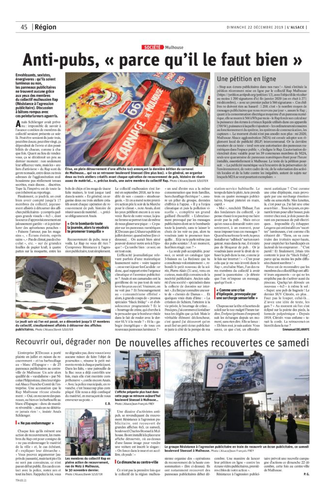 page 45 de L'Alsace du 22-12-2019